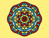 Coloring page Mandala for mental relaxation painted byANIA2