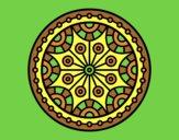 Coloring page Mandala mental balance painted bylorna