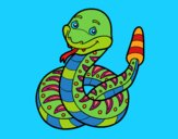 Coloring page  A rattlesnake painted byPiaaa
