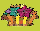 Coloring page Basket of flowers 8 painted byNita