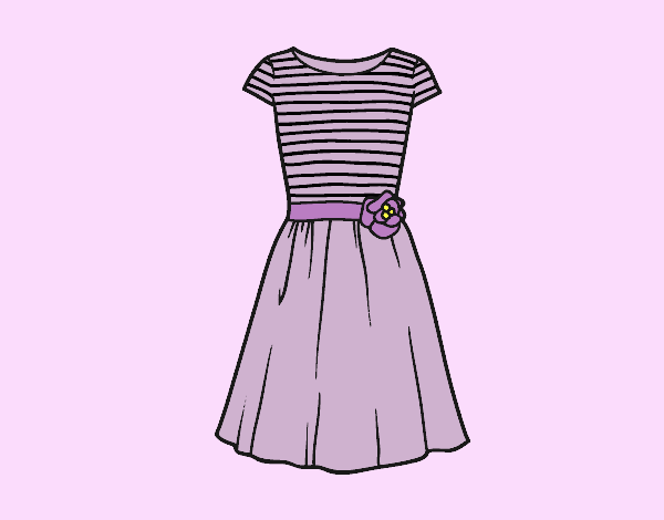 Coloring page Casual dress painted bylorna