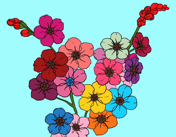 Coloring page Cherry tree flower painted byPiaaa