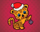 Coloring page Christmas tiger painted byPiaaa