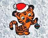 Coloring page Christmas tiger painted byPrincess13