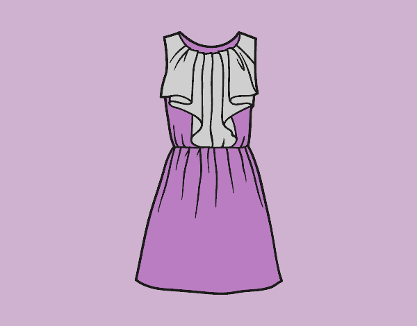 Coloring page Cocktail dress painted bylorna