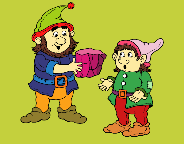 Dwarf master and apprentice