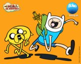 Coloring page Finn and Jake painted byPiaaa