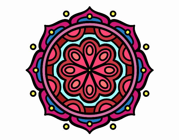 Coloring page Mandala to meditate painted bySkye
