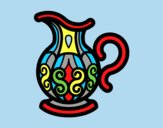 Coloring page Pitcher of water painted bylorna