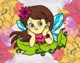 Coloring page Pretty fairy painted byPiaaa