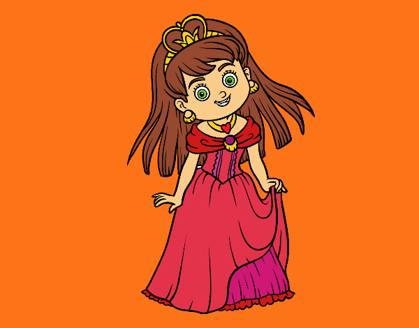 Coloring page Princess charming painted byPiaaa