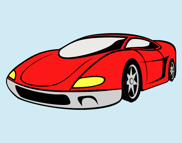 Coloring page Sport Car painted bylorna