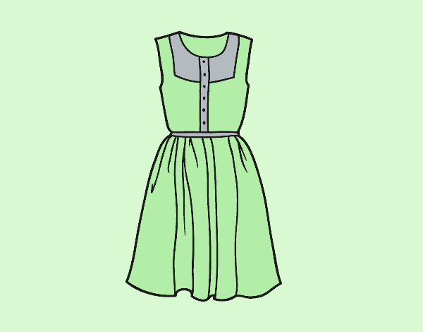 Coloring page Summer dress painted bylorna