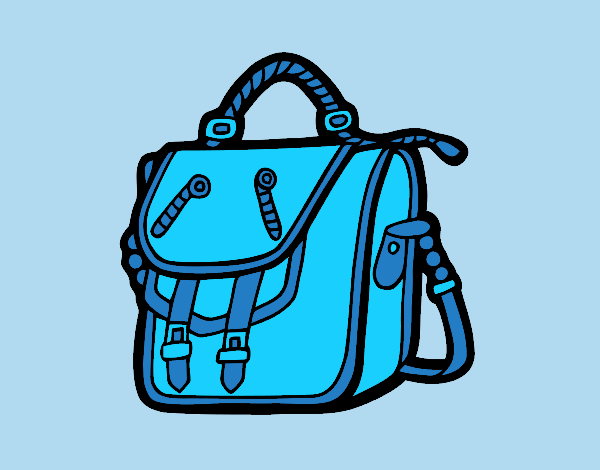 Coloring page Bag backpack painted bylorna