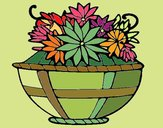 Coloring page Basket of flowers 11 painted byNita
