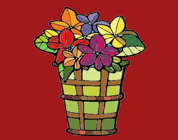 Basket of flowers 3