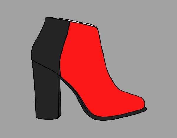 Coloring page Bootie Heel painted bylorna
