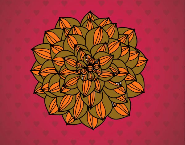 Coloring page Dahlia painted byNita