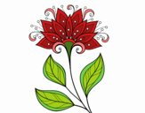 Coloring page Decorative flower painted bySkye