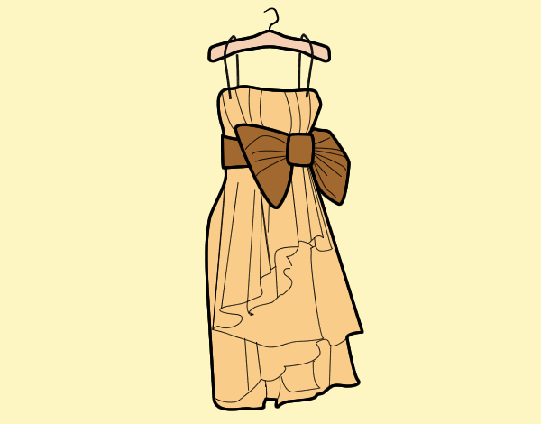 Coloring page Evening dress painted bylorna
