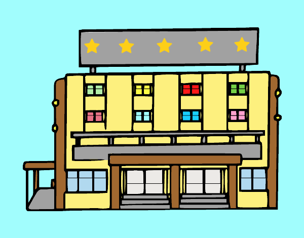 Coloring page Hotel painted bylorna
