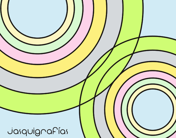 Coloring page Linked circles painted byANIA2
