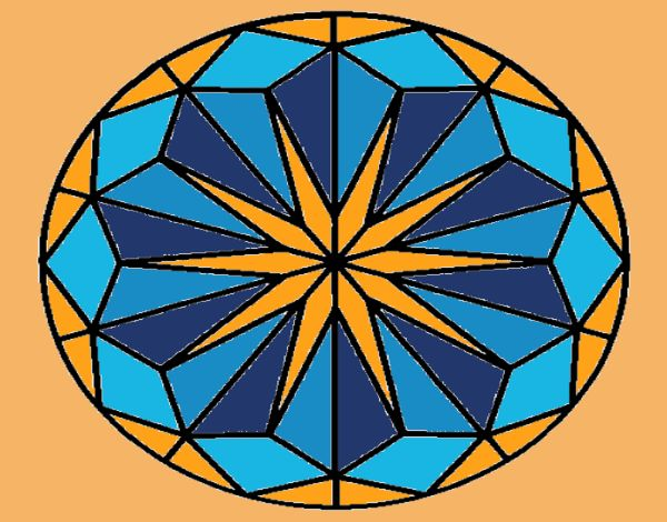 Coloring page Mandala 42 painted byNita
