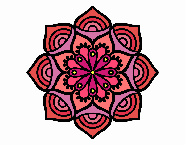 Coloring page Mandala exponential growth painted bySkye