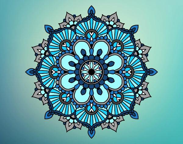 Mandala floral flash