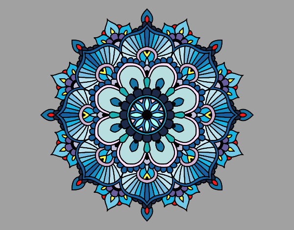 Mandala floral flash