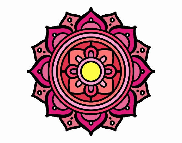 Coloring page Mandala greek mosaic painted bySkye