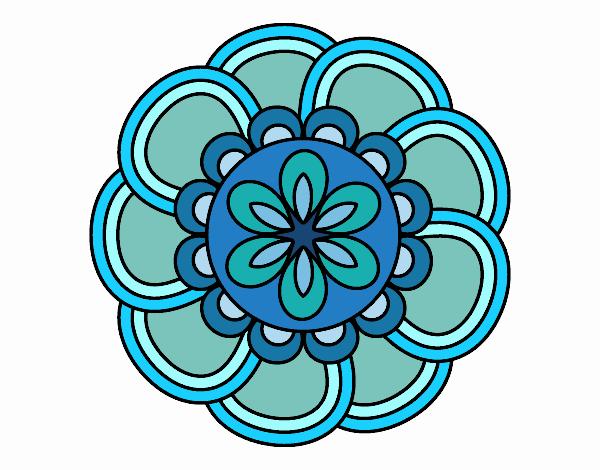 Coloring page Mandala petals painted bySkye