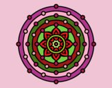 Coloring page Mandala solar system painted byValerie