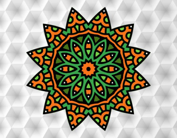 Coloring page Mandala star painted byNita