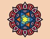 Coloring page Mandala vegetal life painted byValerie
