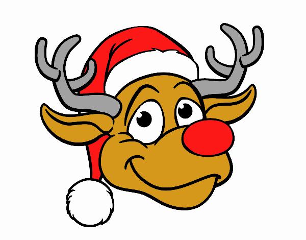 Reindeer face Rudolph