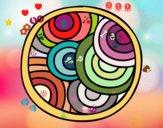 Coloring page Round mandala painted byAndrius