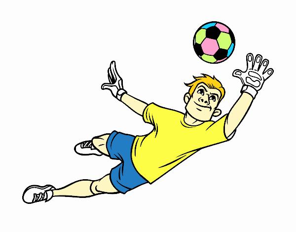 A soccer goalkeeper