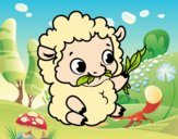 Coloring page Baby sheep painted bybbbb