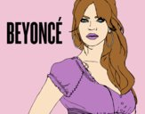Coloring page Beyoncé B-Day painted bylorna
