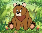 Coloring page Brown bear painted bybbbb