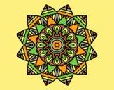 Coloring page Fruit mandala painted bylorna