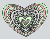 Coloring page Heart mandala painted byANIA2