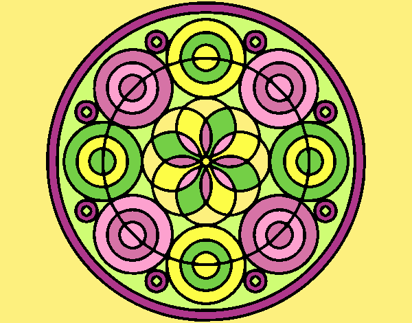 Coloring page Mandala 35 painted byANIA2