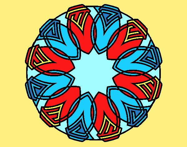 Coloring page Mandala 37 painted byANIA2