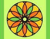Coloring page Mandala 38 painted byANIA2