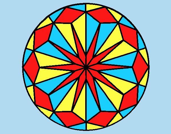 Coloring page Mandala 42 painted byANIA2