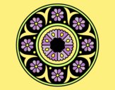 Coloring page Mandala flower painted byANIA2