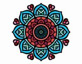 Coloring page Mandala for mental concentration painted bySkye