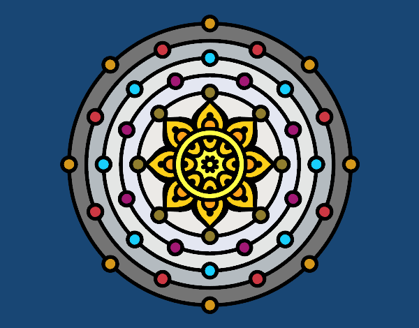Coloring page Mandala solar system painted bySage